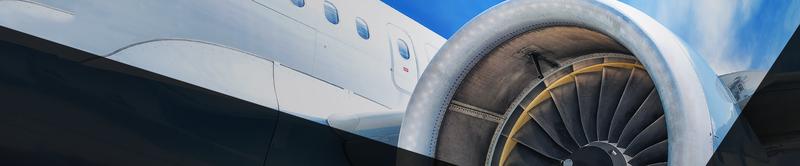 Aviation Header Foto, Bild von einer Flugzeugturbine