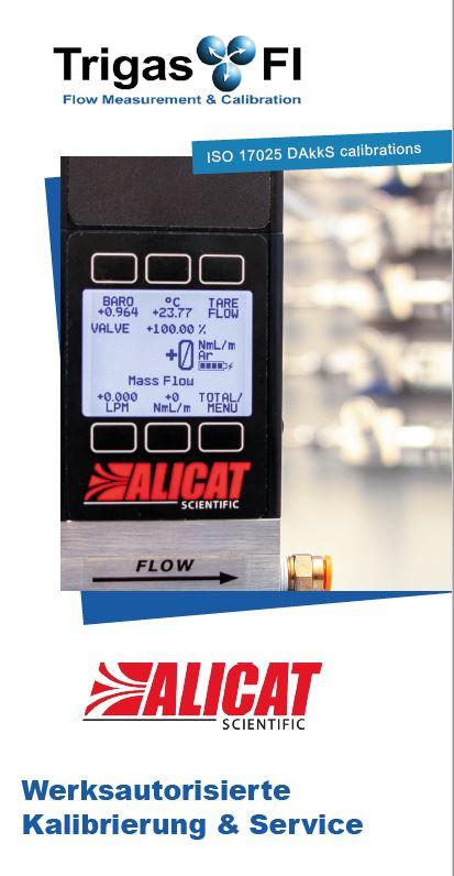 Alicat Calibration and Service by TrigasFI Calibration laboratory
